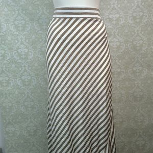 🇺🇸Daytrip Buckle Taupe White Striped Maxi Skirt